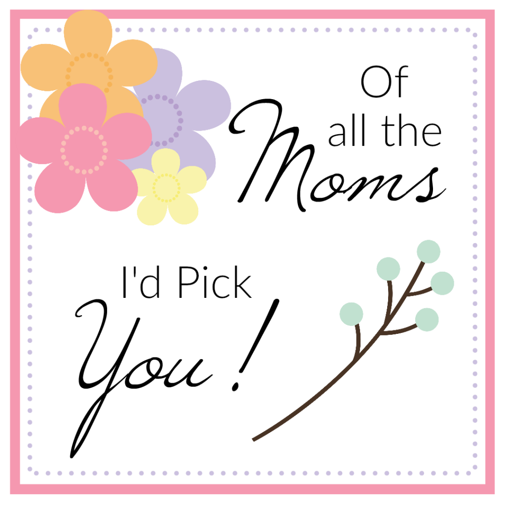 Mother's Day Flower Gift Tags