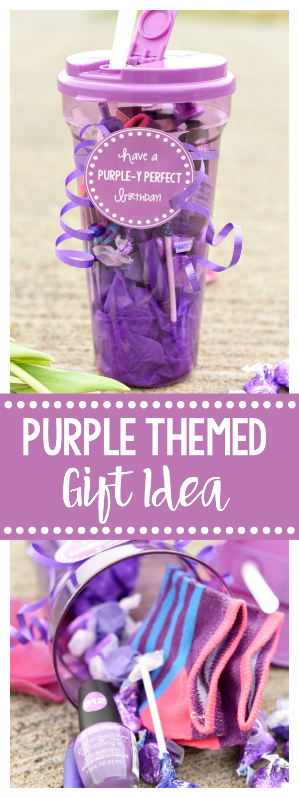 Purple Gift Idea for Friends on their Birthdays or Teachers