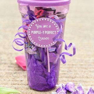 Purple Themed Teacher Gift