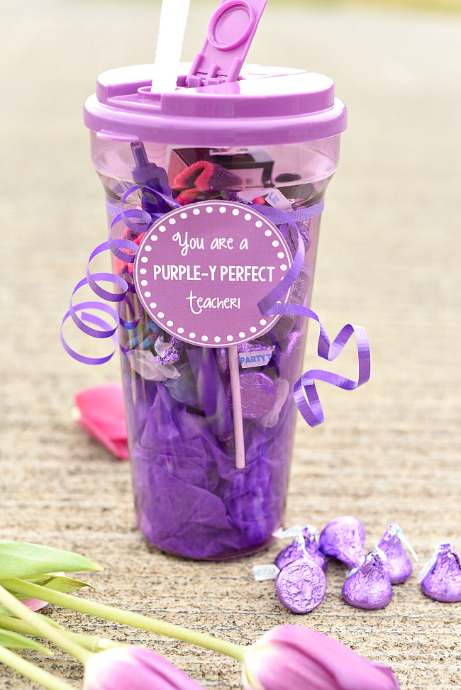 Purple Themed Teacher Appreciation Gift Idea