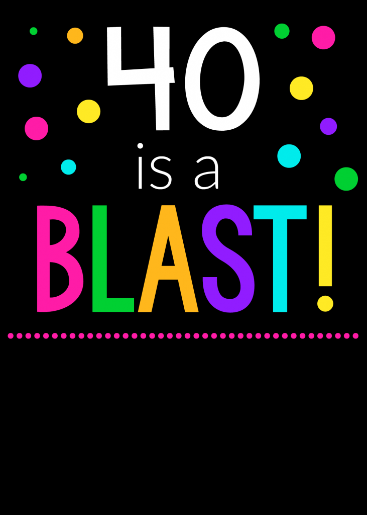 40 Birthday Invitations