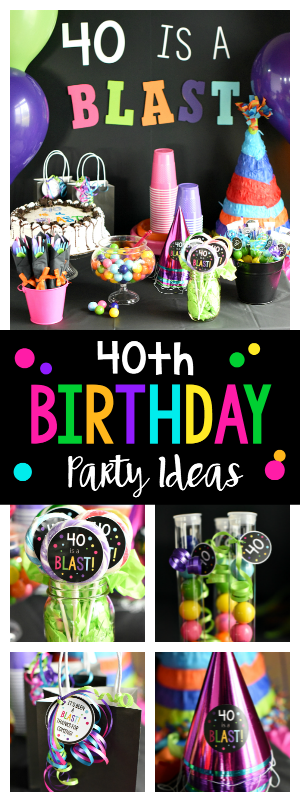 40th birthday party 40 is a blast fun squared for 40 birthday decoration ideas