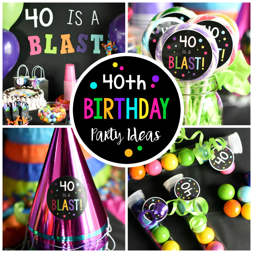 40th birthday party throw a 40 is a blast party for 40 birthday decoration ideas