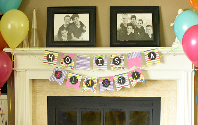 DIY Bunting Letters