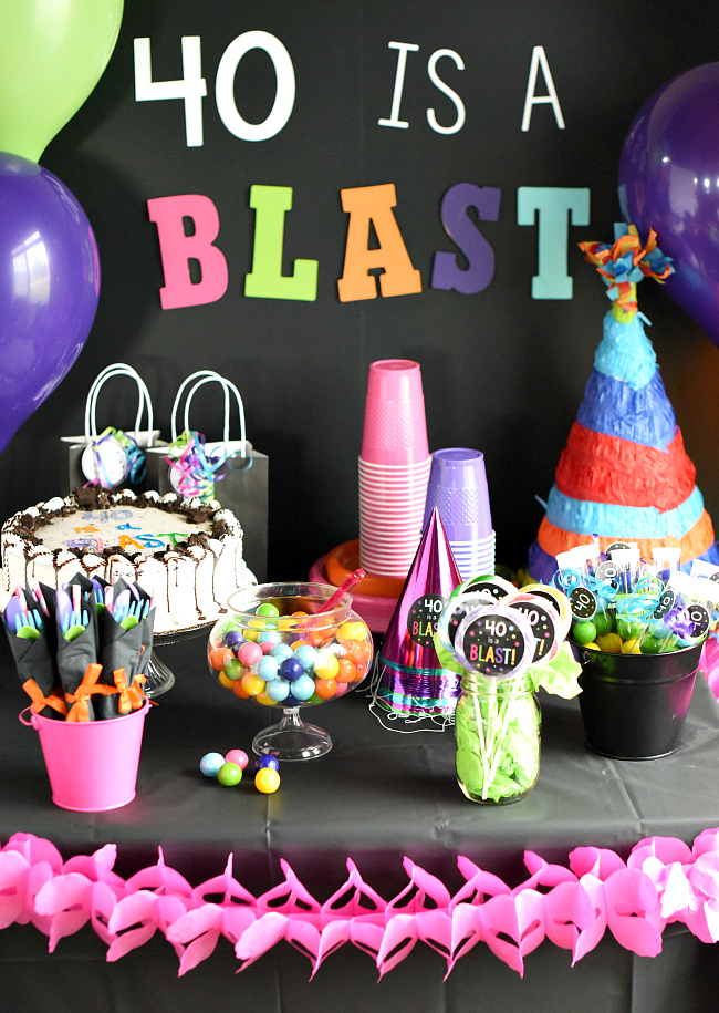 40th Birthday Party-40 is a Blast! – Fun-Squared
