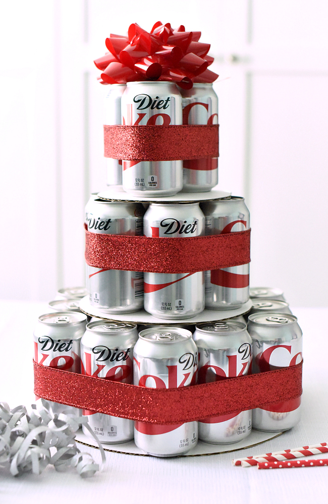 How to make a fun diet coke cake gift fun squared diet coke birthday gift idea negle Images