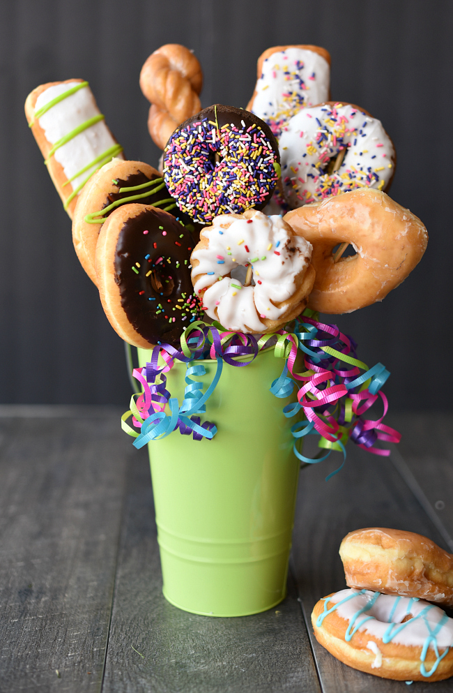 Donut Bouquet Gift Idea Fun Squared