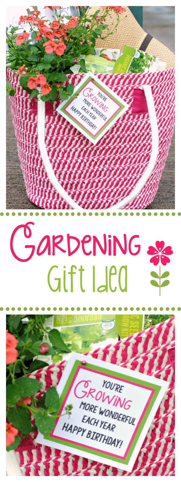 This Gardening Gift Basket Make a Great Birthday Gift for a Garden Lover