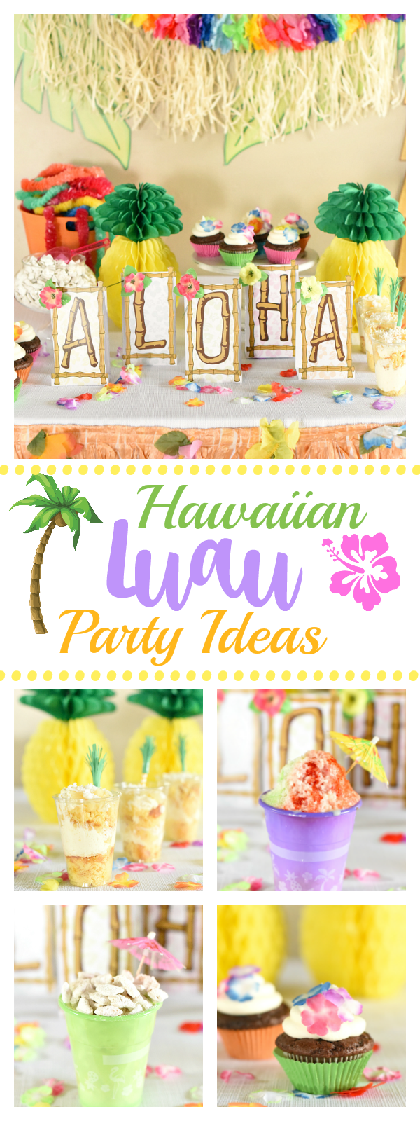 Hawaiian Luau Party Ideas-Great ideas to throw the funnest Hawaiian themed party from food to decorations, game and fun! #luau #hawaiianthemedparty #hawaiianparty