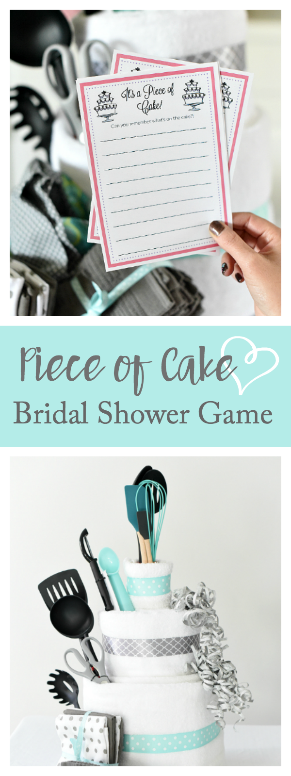 fun bridal shower game idea piece of cake memory game