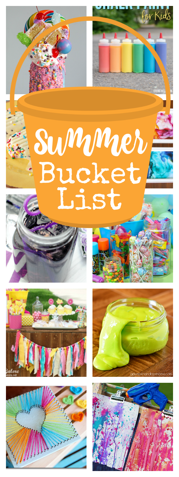 Summer Bucket List Ideas-25+ Fun Things to Do with Kids This Summer. Great summer activities for kids that will keep them happy and not bored! #summer #summerfun #kids #kidsactivities