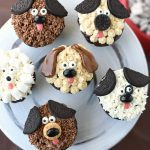 Cute Puppy Dog Cupcakes for Kid's Birthdays