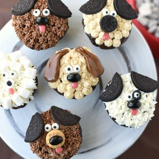 Cute Puppy Cupcakes for Kid's Birthdays
