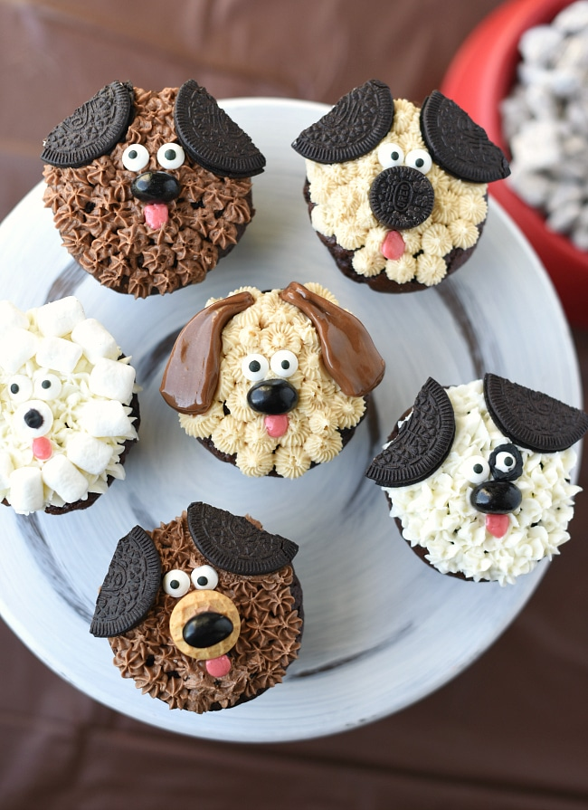 Cute Puppy Cupcakes For Kids Birthdays