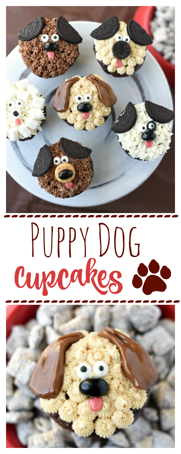 Puppy Cupcakes-Cute Kid's Dog Birthday Cake Idea