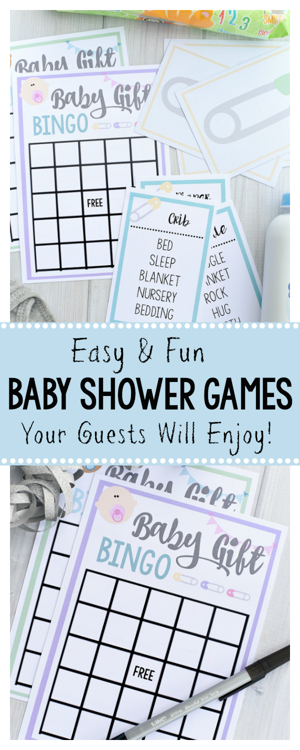Fun and Free Printable Baby Shower Games-Great for Large Groups!