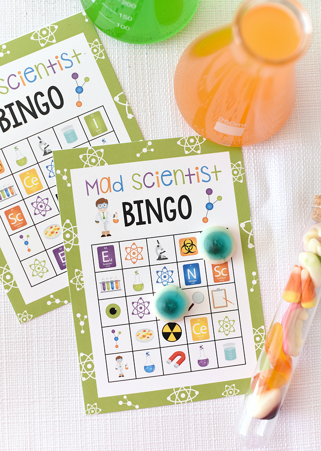 Mad Scientist Bingo Party Game