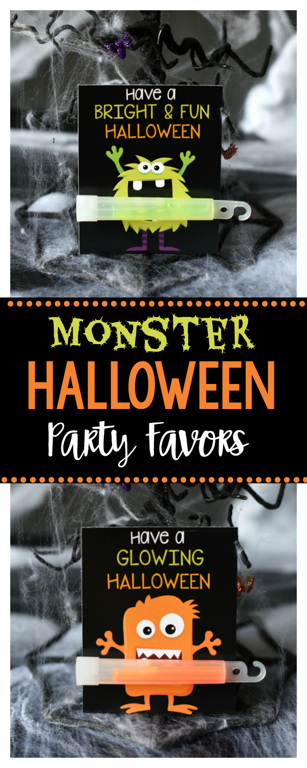 Cute Monster Halloween Party Favors