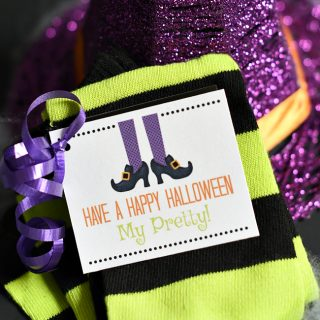 Cute Witch Socks Halloween Gift for Friends