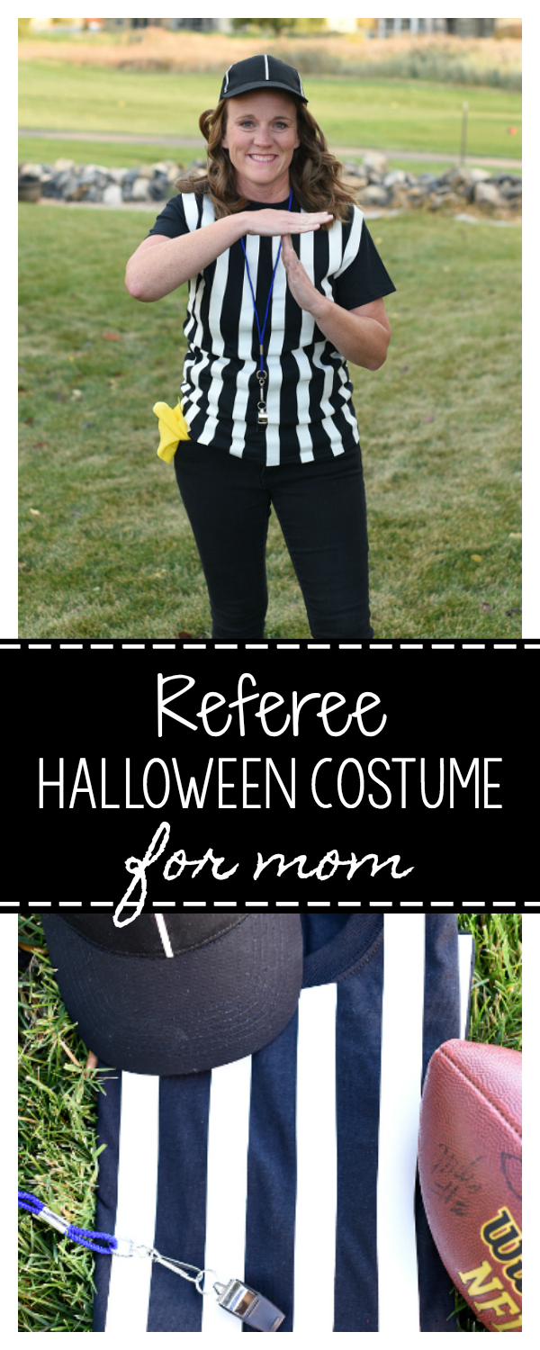 Easy Halloween Costume Idea for Mom Referee