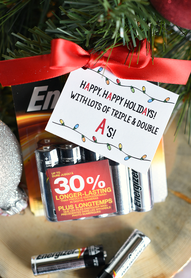 Super Simple Battery Neighbor Gift Idea