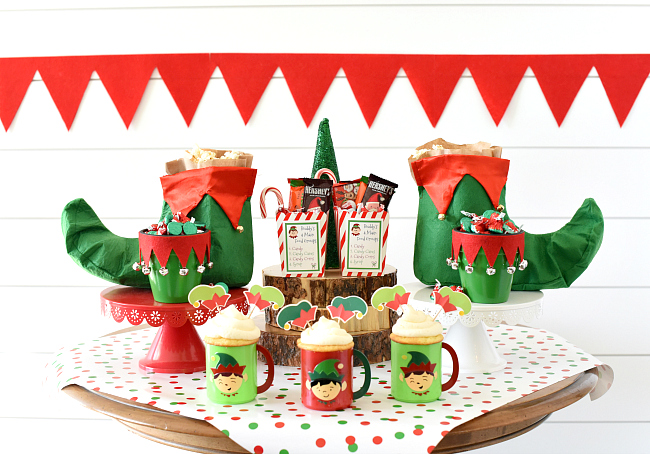 Elf Themed Christmas Movie Night Party for Kids
