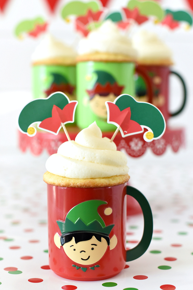 Elf Cupcakes for Christmas Party