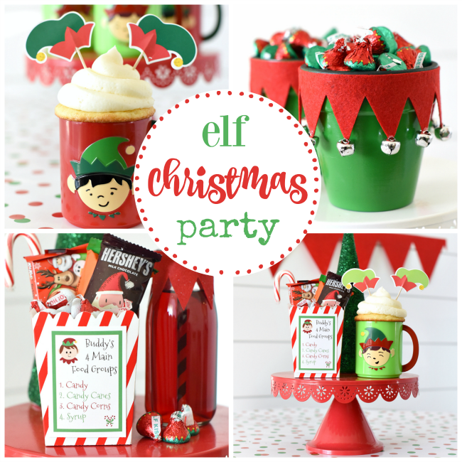 elf themed christmas party
