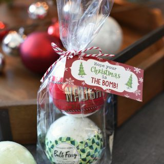 Christmas Bath Bombs Gift Idea for Friends