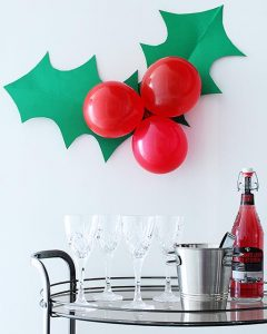 Holly Decor for a Holiday Party