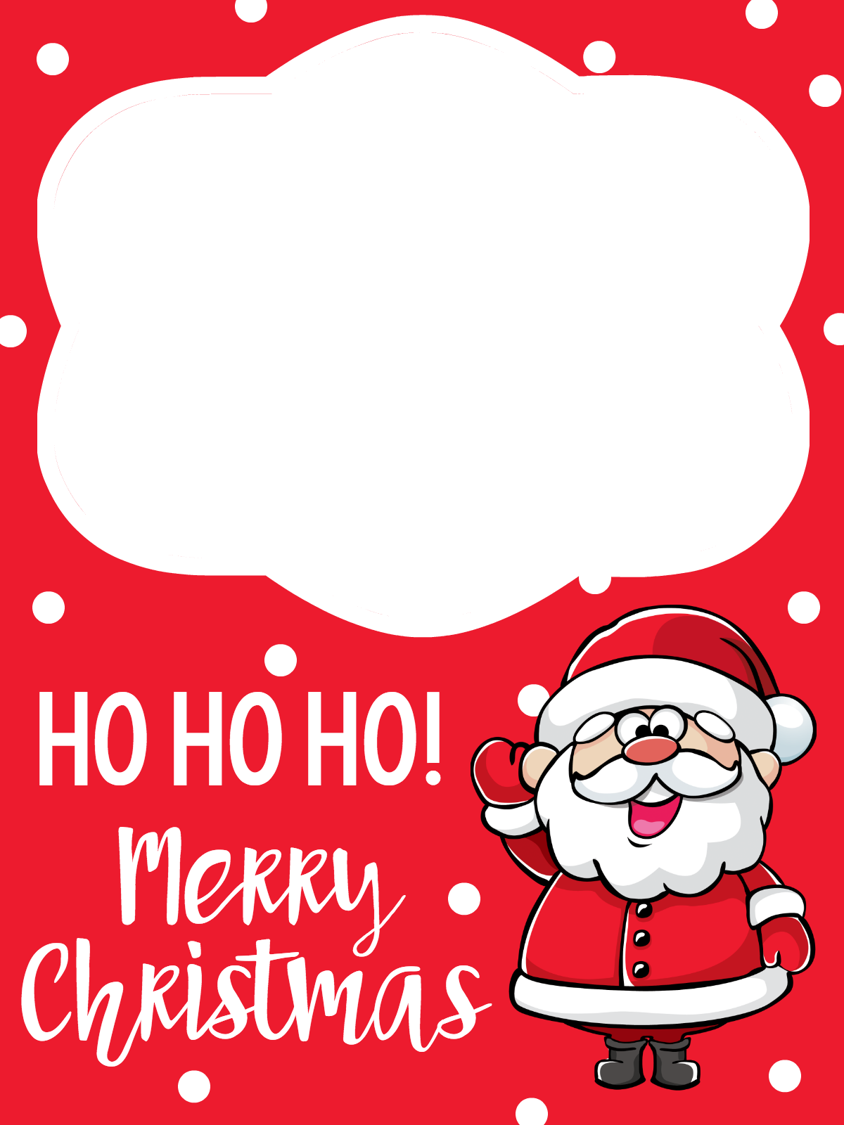 Santa Claus Printable Gift Cards Holder