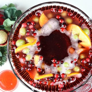 Fun Punch Ideas-Punch Bowl Ice Ring with Fruit
