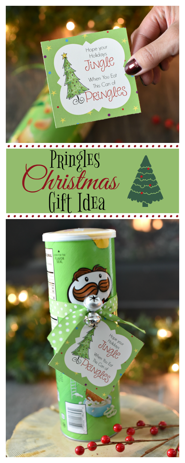 Funny christmas gift idea with pringles fun squared funny christmas gifts negle Choice Image