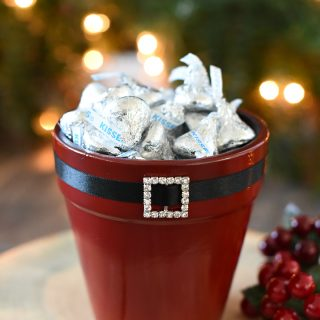Elf & Santa Candy Pot Gift Idea