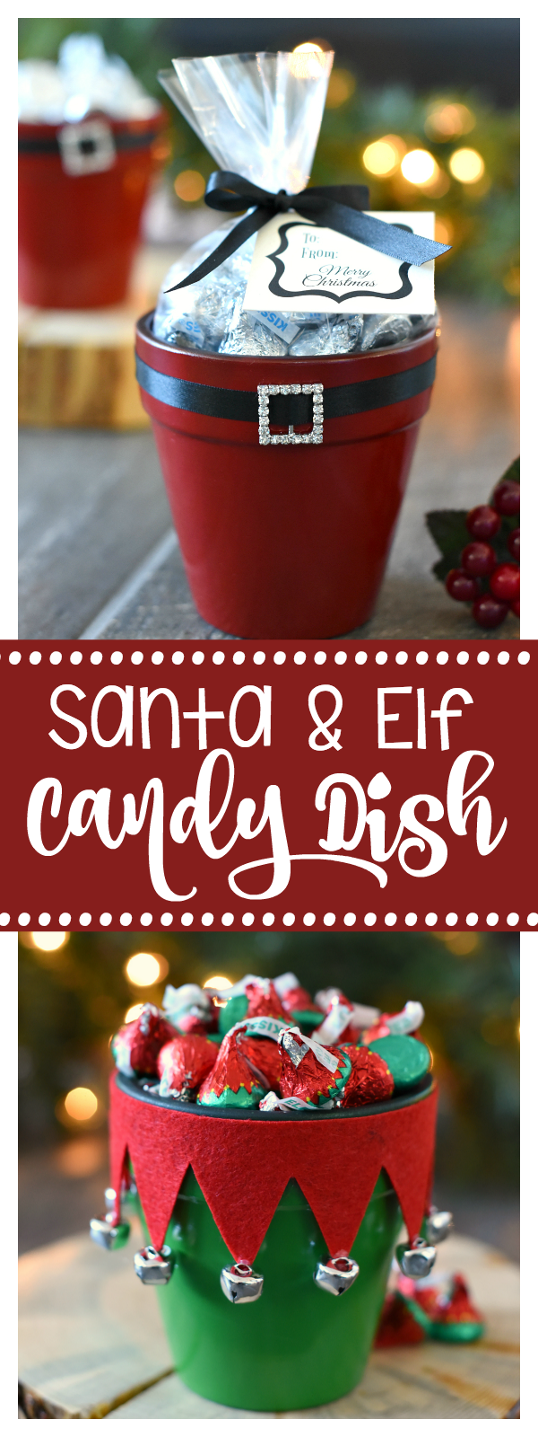 Santa and Elf Candy Dishes for Christmas-Great Gift for Neighbors or Friends!