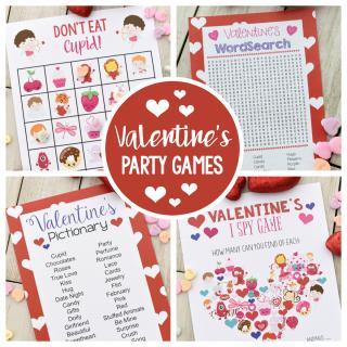 Fun Valentine Games to Print & Play