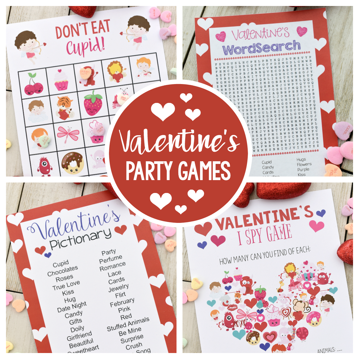 Fun Valentine Games To Print & Play