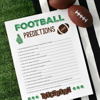 Super Bowl Party Games: Football Predictions
