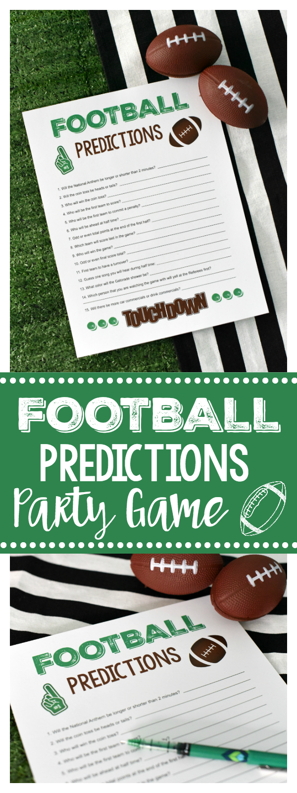 Super Bowl Party Games: Football Predictions (Like Prop Bets) a Great Game for the Whole Family