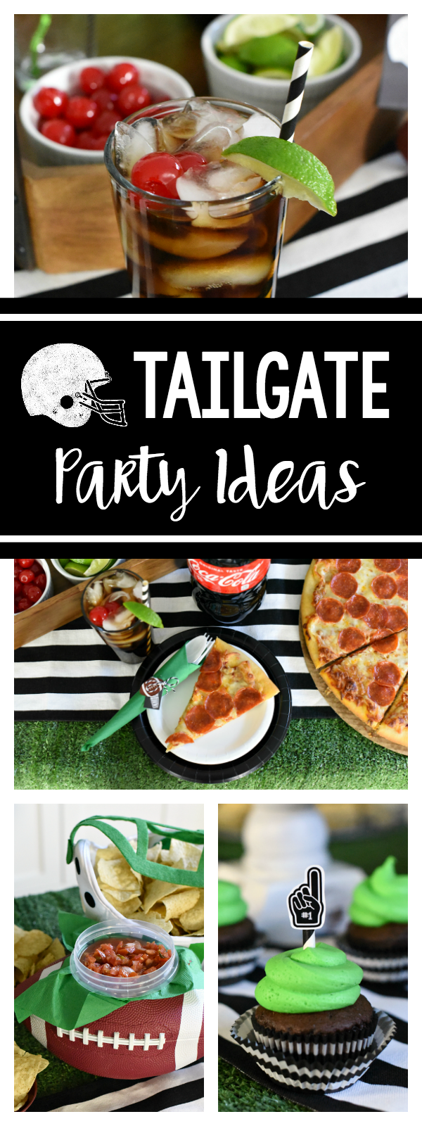 Football Party Ideas for a Tailgate Party-Football Decorations, Food, and Drinks