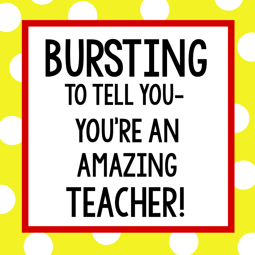 Teacher Starburst Gift Tag