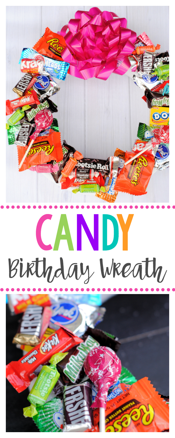Candy Wreath for Birthdays-A Fun Birthday Gift for Kids or Friends