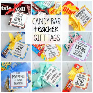 Teacher Appreciation Gifts-Candy Bar Gift Tags