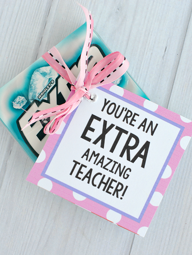 Extra Gum Teacher Gifts