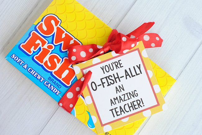 Swedish Fish Gift Tag