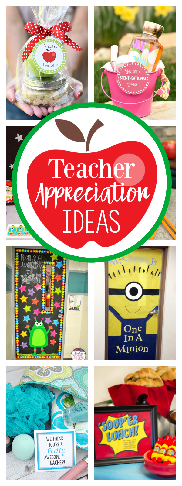 Teacher Appreciation Week Ideas-Teacher Gift Ideas, Door Decorations, Themes and More