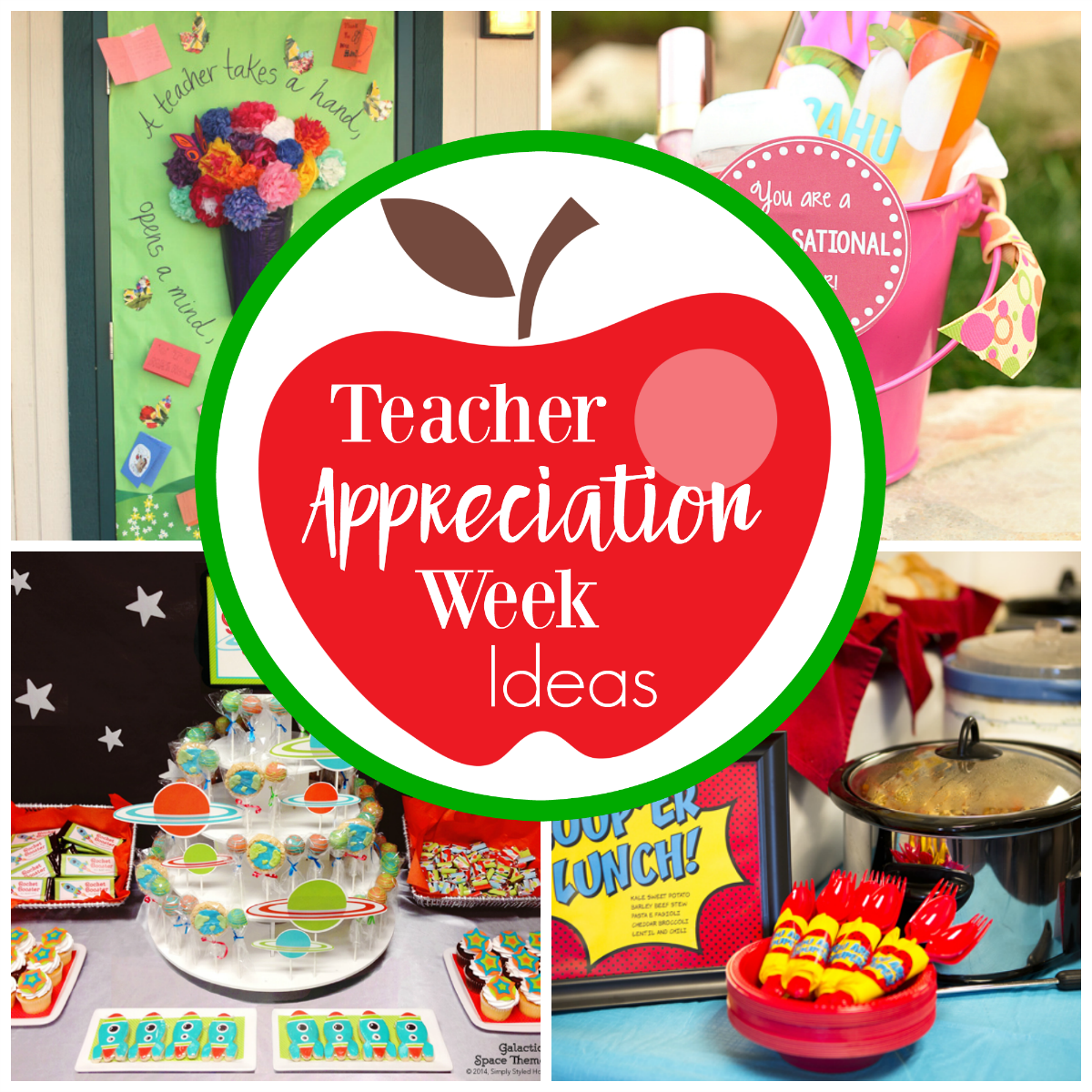 Classroom Ideas For Teacher Appreciation Week ~ Fun teacher appreciation week ideas squared