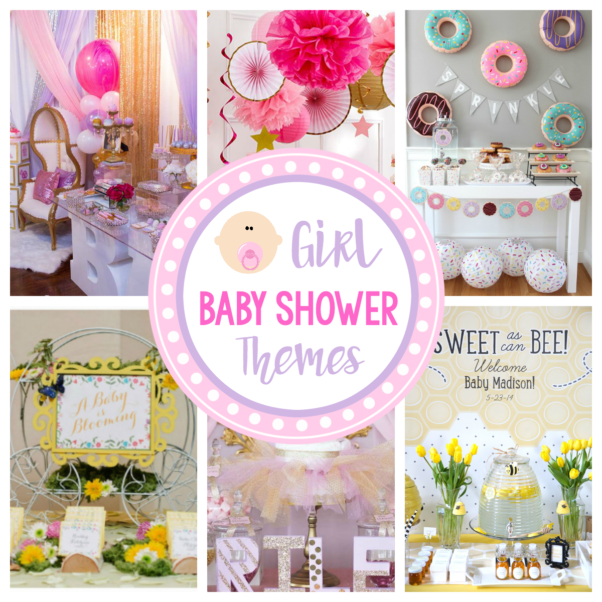 Cute Girl Baby Shower Themes & Ideas