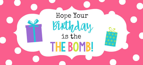 Bath Bomb Birthday Gift Tags