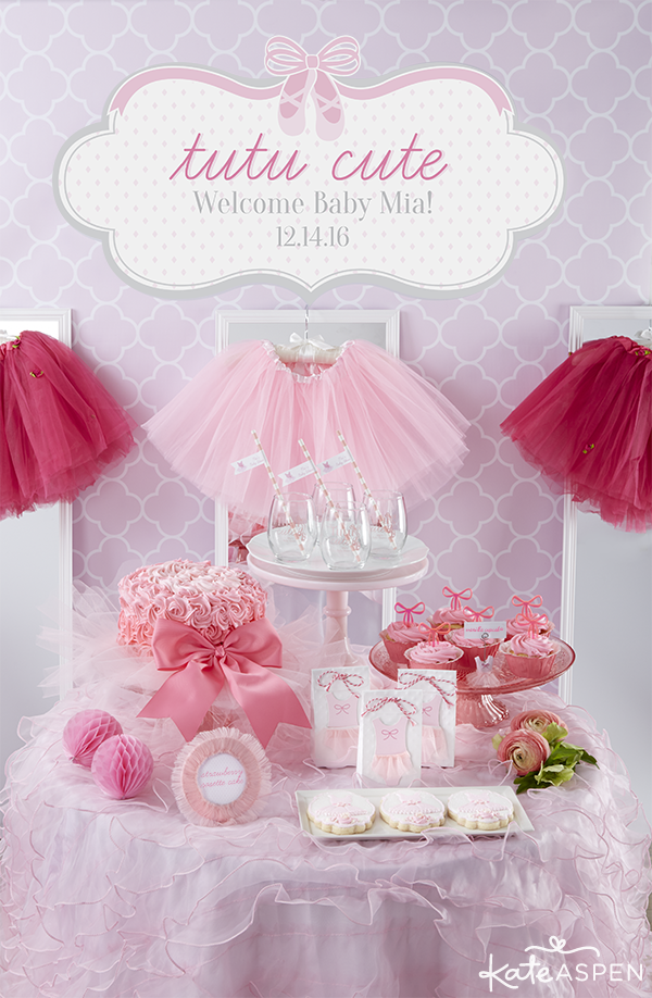 Baby Girl Shower Themes Cute Girl Baby